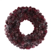 "Northlight 12.5"" Wine Burgundy Glitter Pine Cone Artificial Christmas Wreath - Unlit (31741362)"
