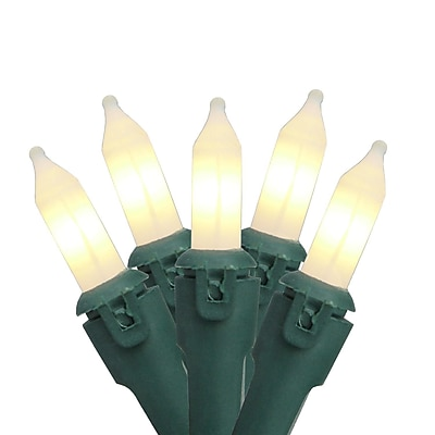 GKI/Bethlehem Lighting Set of 50 Clear Frosted Commercial Grade Mini Christmas Lights 5.5