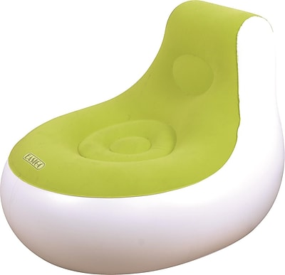 "Pool Central 36.5"" White and Green Inflatable Indoor/Outdoor ""Easigo"" Side Chair (32148738)"