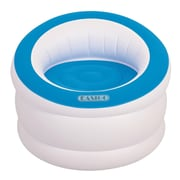 "Pool Central 35"" White and Cyan Blue Indoor/Outdoor Inflatable ""Easigo"" Chair (32148696)"