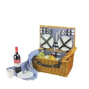 Northlight 4-Person Hand Woven Honey Willow Picnic Basket Set with Accessories (32230509)