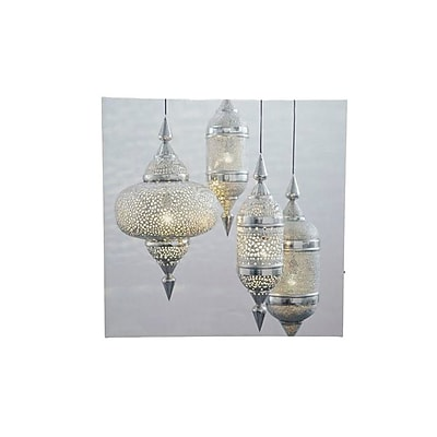 Northlight LED Lighted Moroccan Inspired Hanging Finials Canvas Wall Art 11.75