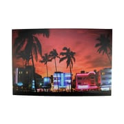 "Northlight LED Lighted Famous South Beach Miami Florida Nightlife Scene Canvas Wall Art 15.75"" x 23.5"" (31535666)"