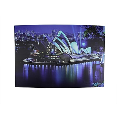 Northlight LED Lighted Famous Sydney Opera House Australia Canvas Wall Art 15.75