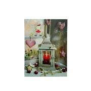 "Northlight LED Lighted Cozy Country Lantern Christmas Canvas Wall Art 11.75"" x 12"" (32282567)"