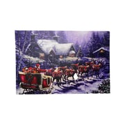 "Northlight LED Lighted Santa and Reindeer Making Deliveries Christmas Canvas Wall Art 15.75"" x 23.5"" (32282586)"