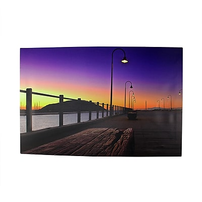 Northlight LED Lighted Sunset Boardwalk Scene Canvas Wall Art 15.75