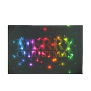 "Northlight LED Lighted Multi-Colored ""Merry Christmas"" Canvas Wall Art 8"" x 12"" (32256594)"