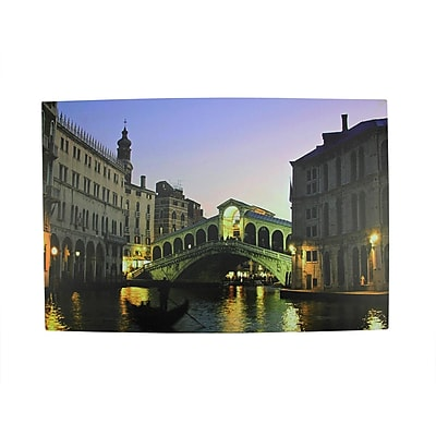 Northlight LED Lighted Venice City Italy Nighttime Scene Canvas Wall Art 15.75