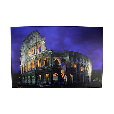Northlight LED Lighted Famous Roman Colosseum Italy Canvas Wall Art 15.75