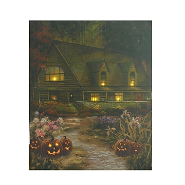 Northlight LED Lighted Halloween Harvest in Autumn Canvas Wall Art 19.75