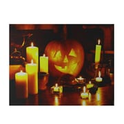 "Northlight LED Lighted Halloween Witch's Jack-O'-Lantern by Candlelight Canvas Wall Art 15.75"" x 19.5"" (32269632)"