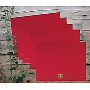 """Great Papers Classic Crest 9.38""""W x 12""""L Certificate Covers, Red, 5/Pack (903031)"""