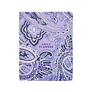 "Vera Bradley 6.5"" x 8.68"" Daily Planner, Deep Night Paisley, Purple (206464)"