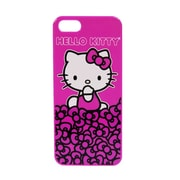 Hello Kitty Polycarbonate Wrap For Iphone 5 - Kitty With Pink Background And Bows (Kt4489Ppb-Pd)