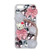 Hello Kitty Deco Cover For Iphone 5 - White Case With Pink Bows And Bling (Kt4496Wg-Pd)