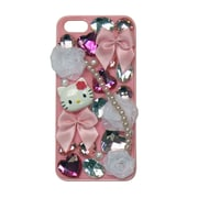 Hello Kitty Deco Cover For Iphone 5 - Pink Case With Bows And Bling (Kt4496Ph-Pd)