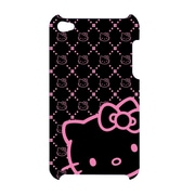 Hello Kitty Polycarbonate Wrap For Ipod Touch 4G (Kt4478Bk-Pd)