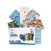 WeCare Fun Individually Wrapped Disposable Face Masks, Kids, Assorted Colors, 50/Box (WMN100062)