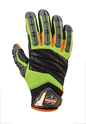 ProFlex® 924LTR Hybrid Dorsal Impact-Reducing Gloves, Lime, Large (17794)
