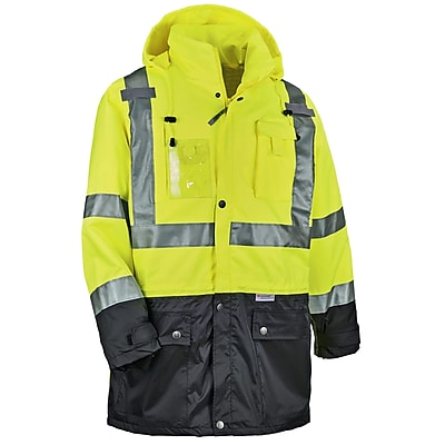 GloWear® 8386 Type R Class 3 Outer Shell Jacket, Lime, Small (25372)