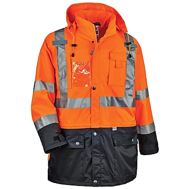 GloWear® 8386 Type R Class 3 Outer Shell Jacket, Orange, Small (25462)