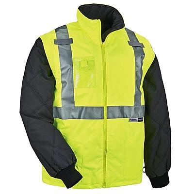 GloWear® 8287 Type R Class 2 Convertible Thermal Jacket, Lime, Medium (25493)