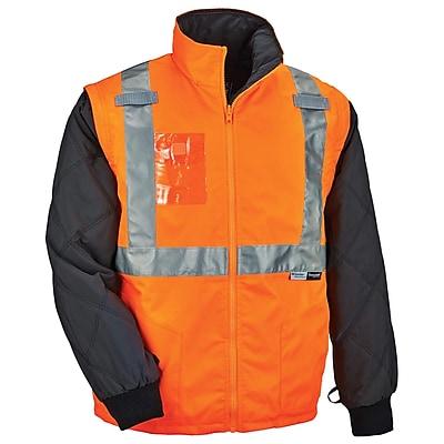 GloWear® 8287 Type R Class 2 Convertible Thermal Jacket, Orange, Large (25514)