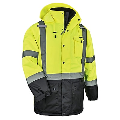 GloWear® 8384 Type R Class 3 Thermal Parka, Lime, 4XL (25568)