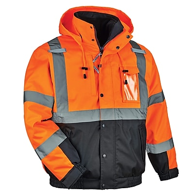 GloWear® 8381 Type R Class 3 Performance 3-in-1 Bomber Jacket, Orange, Small (25582)