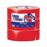 """Colored Duct Tape, Red, 2"""" x 60 yards, 3/Pack"""