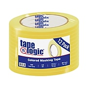"Tape Logic™ 1/4"" x 60 Yards Masking Tape, Yellow, 12 Rolls (T93100312PKY)"