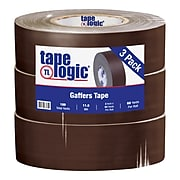 "Tape Logic 2"" x 60 yds. x 11 mil Gaffers Tape,  Brown,  3/Pk"
