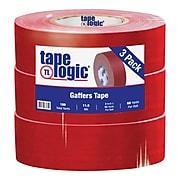 "Tape Logic 2"" x 60 yds. x 11 mil Gaffers Tape,  Red,  3/Pk"