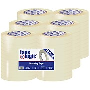 "Tape Logic® 2200 Masking Tape, 4.9 Mil, 1/2"" x 60 yds., Natural, 72/Case (T9332200)"
