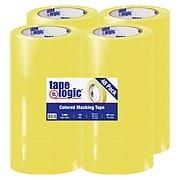 """Tape Logic® Masking Tape, 4.9 Mil, 3/4"""" x 60 Yards, Yellow, 48/Case (T934003Y)"""