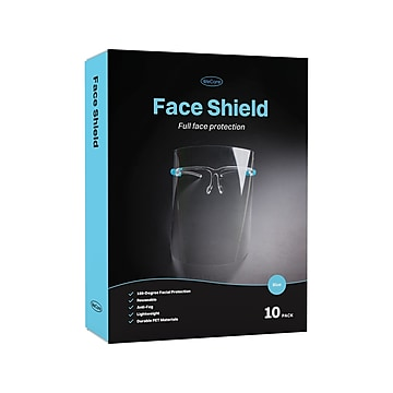 WeCare Fully Assembled Face Shield, Clear Visor, 10/Box (WMN100015)