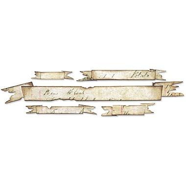 Sizzix Sizzlits Decorative Strip Die By Tim Holtz-Tattered Banners 12.625