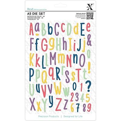Docrafts Folk Alphabet Xcut A5 Dies, 66/Pkg (XC503286)