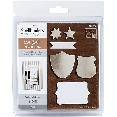Spellbinders Contour Steel Rule Die -Badge Of Honor