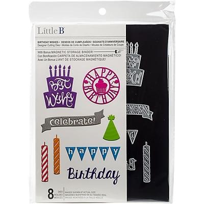 Little B Cutting Die-Birthday Wishes