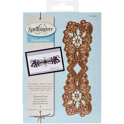 Spellbinders Shapeabilities Dies-Diamond Floral