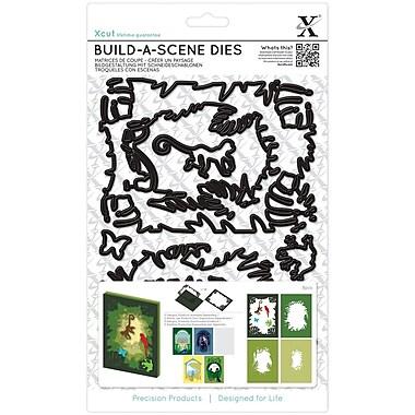 Xcut Build-A-Scene Dies 7/Pkg-Shadow Box Jungle