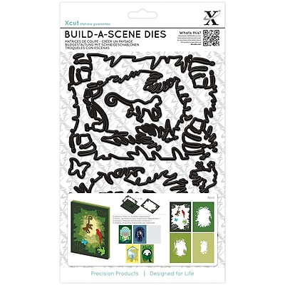 Xcut Build-A-Scene Dies 7/Pkg-Shadow Box Jungle