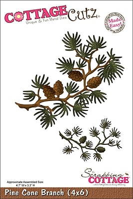 CottageCutz Die-Pine Cone Branch 4.7