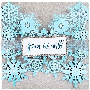 Sizzix Thinlits Die-Snowflake Card