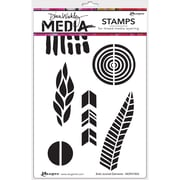 """Dina Wakley Media Cling Stamps 6""""X9""""-Bold Journal Elements"""
