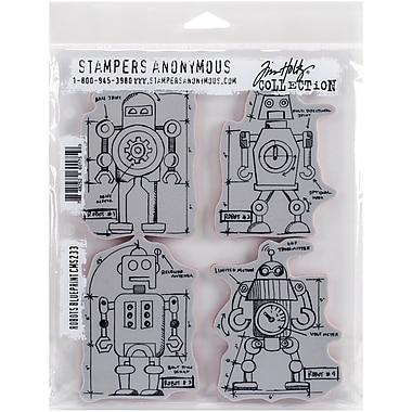 Tim holtz cling stamps 7x85 robots blueprint staples tim holtz cling stamps 7 malvernweather Images