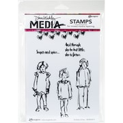 """Dina Wakley Media Cling Stamps 6""""X9""""-Scribbly Girlies"""