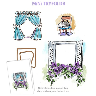 Art Impressions Mini Try'folds Clear Stamps 10